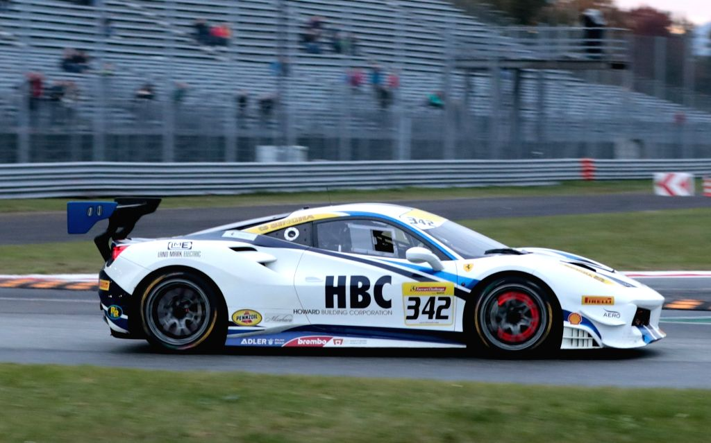 MONZA, Nov. 4, 2018 - Mark Fuller of the United States competes during the Ferrari Challenge North America Race 2 at Monza Eni Circuit in Monza, Italy on Nov. 3, 2018.