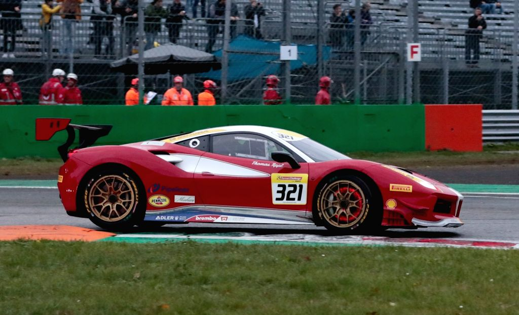MONZA, Nov. 4, 2018 - Thomas Tippl of the United States competes during the Ferrari Challenge North America Race 2 at Monza Eni Circuit in Monza, Italy on Nov. 3, 2018.