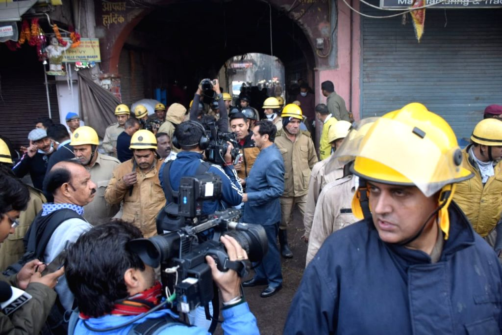 More than 30 people were killed and over a dozen others injured n a major blaze in Delhi's Rani Jhansi Road market on Dec. 8 2019.