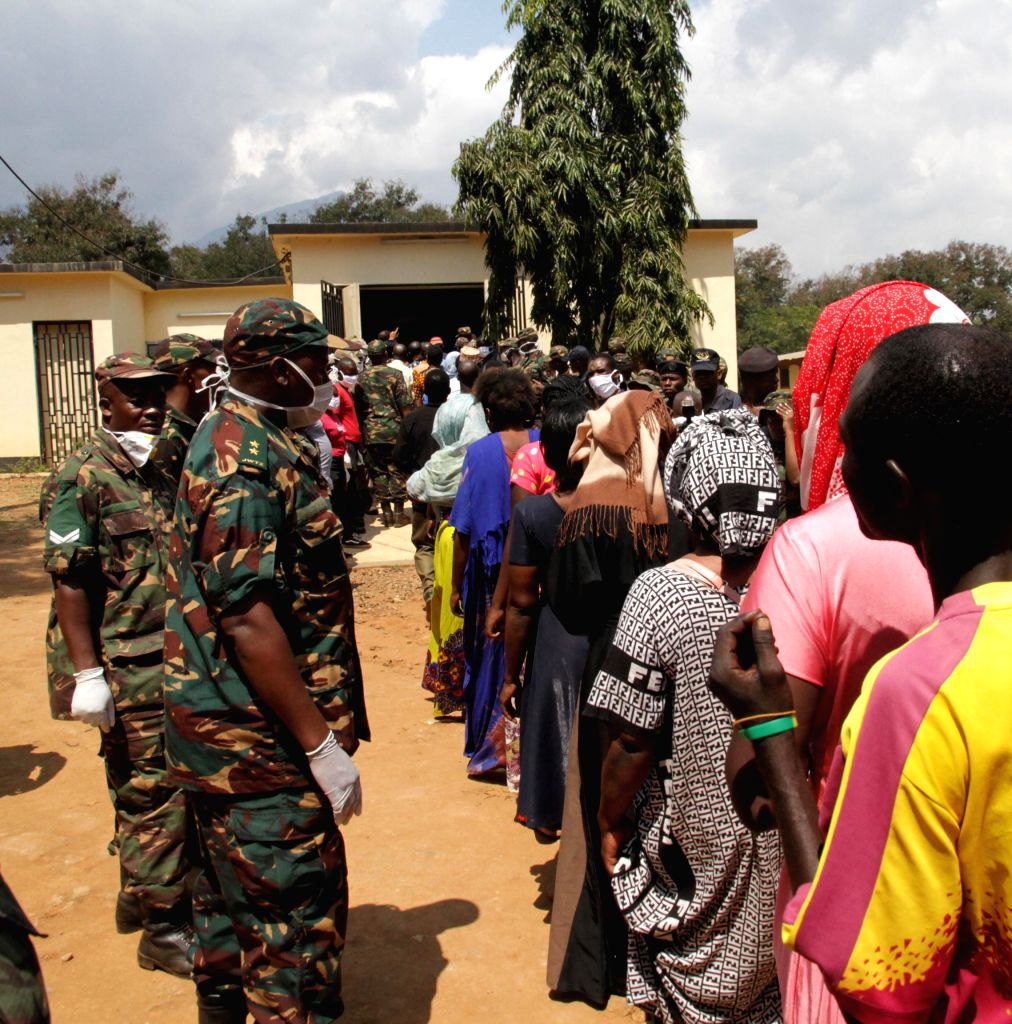 MOROGORO, Aug. 11, 2019 - People line up to identify bodies of victims in Morogoro, Tanzania, Aug. 11, 2019. Tanzanian President John Magufuli has declared three days of national mourning following ...