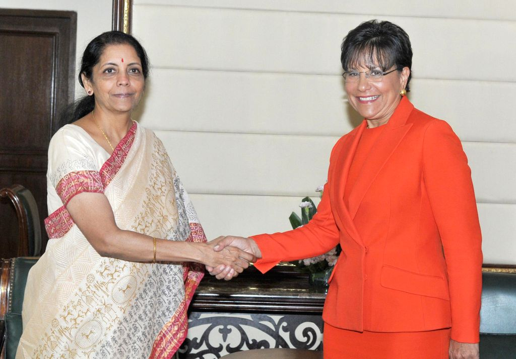 MoS Commerce and Industry (Independent Charge), Finance and Corporate Affairs Nirmala Sitharaman and US Secretary of Commerce, Penny Pritzker during a meeting in New Delhi on July 31, 2014.