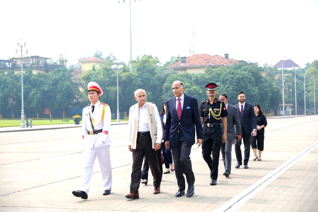 MoS External Affairs M.J. Akbar during his visit to the Ho Chi Minh Mausoleum in Hanoi, Vietnam on Sept 11, 2018.