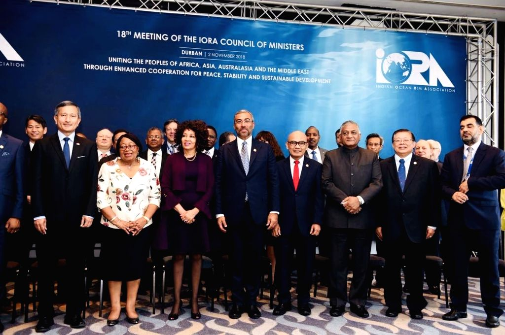 MoS External Affairs V K Singh at 18th Meeting of the IORA (Indian Ocean Rim Association) Council of Ministers in Durban, South Africa on Nov 2, 2018.