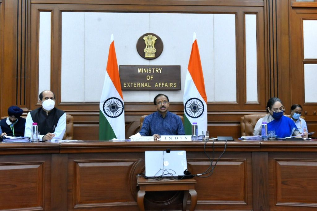MoS External Affairs V. Muraleedharan participated in the 27th Regional Forum Ministerial via video conferencing in New Delhi on Sep 12, 2020.