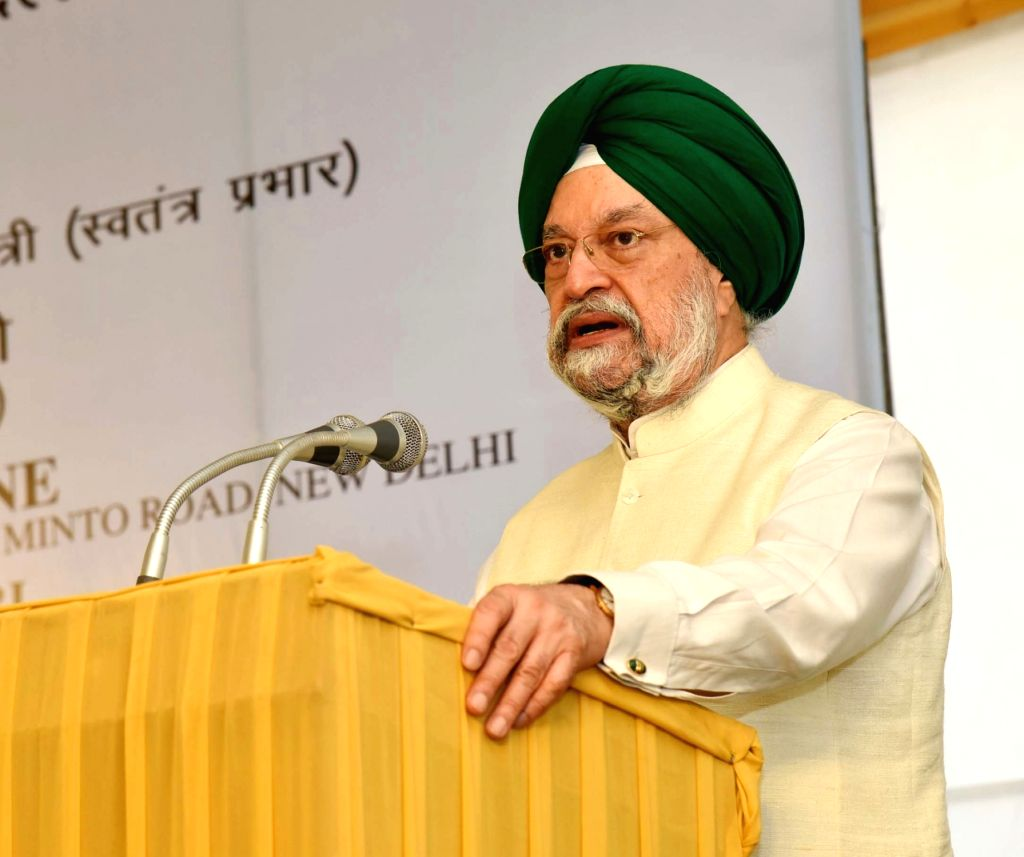 MoS for Housing and Urban Affairs (I/C) Hardeep Singh Puri addresses after laying the foundation stone for Redevelopment of Govt. of India Press, Minto Road, in New Delhi on April 4, 2018. - Hardeep Singh Puri