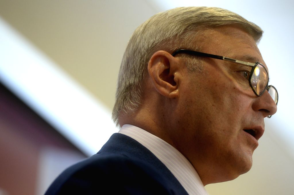 MOSCOW, July 3, 2016 - Leader of the People's Freedom Party (PARNAS) and former prime minister Mikhail Kasyanov speaks during the PARNAS pre-election congress in Moscow, Russia, on July 2, 2016. The ... - Mikhail Kasyanov