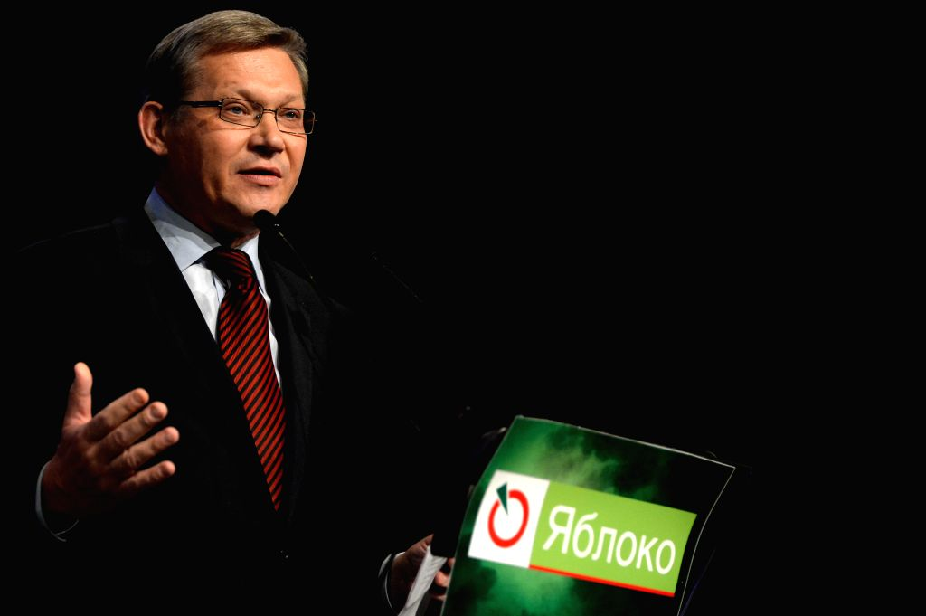 """MOSCOW, July 4, 2016 - Former State Duma member and State Duma candidate Vladimir Ryzhkov speaks during the Russian United Democratic Party """"Yabloko"""" pre-election congress in Moscow, ..."""