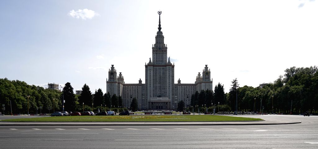 MOSCOW, June 4, 2019 - Photo taken on June 3, 2019 shows the Moscow State University in Moscow, capital of Russia. Chinese President Xi Jinping will pay a state visit to Russia from June 5 to 7 at ...