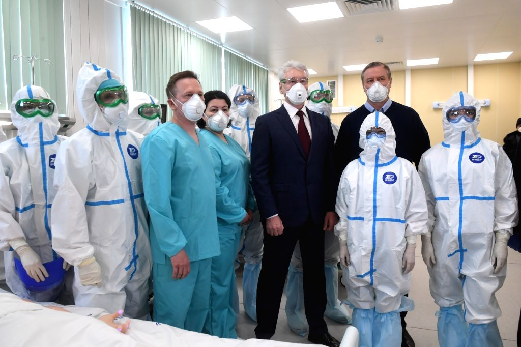 Moscow, June 4 (IANS) Face masks will remain mandatory in Moscow until a mass vaccination campaign against the coronavirus begins, which may happen in October, or even later, the Russian capital city's Mayor Sergei Sobyanin said.	(Sputnik via Xinhua/