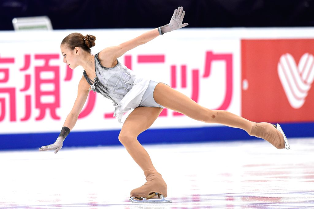 MOSCOW, Nov. 16, 2019 - Alexandra Trusova of Russia performs during the ladies short program at the ISU Grand Prix of Figure Skating Rostelecom Cup 2019 in Moscow, Russia, on Nov. 15, 2019.