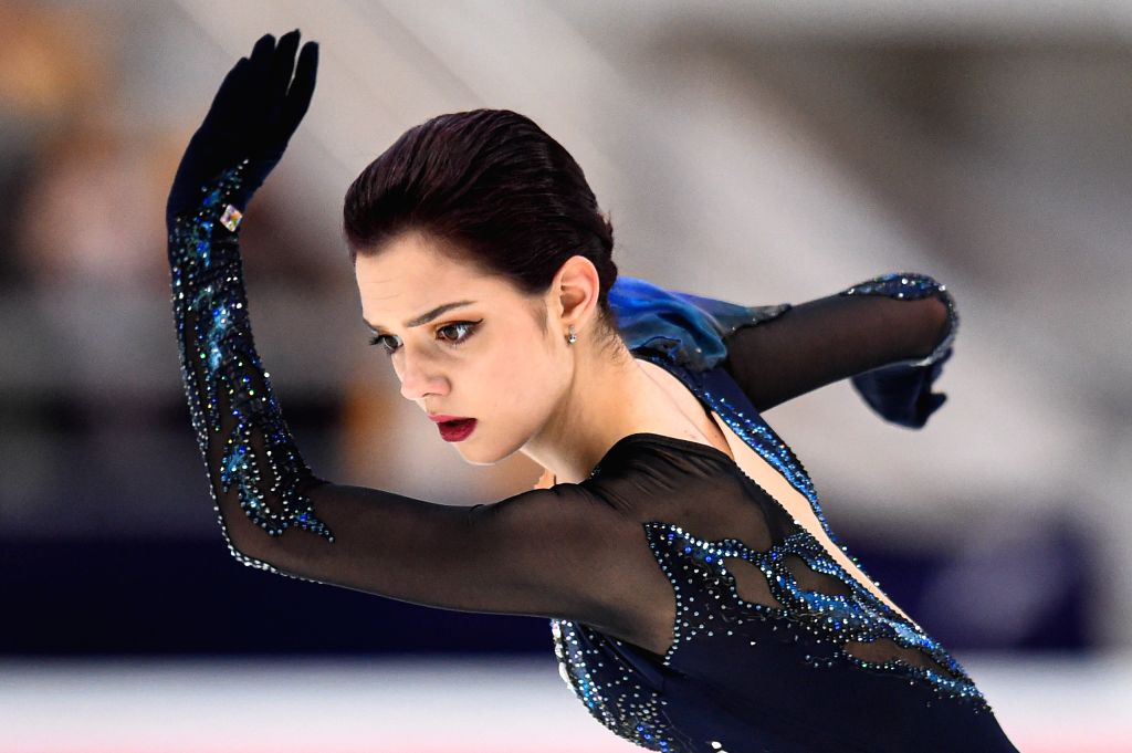 MOSCOW, Nov. 16, 2019 - Evgenia Medvedeva of Russia performs during the ladies short program at the ISU Grand Prix of Figure Skating Rostelecom Cup 2019 in Moscow, Russia, on Nov. 15, 2019.