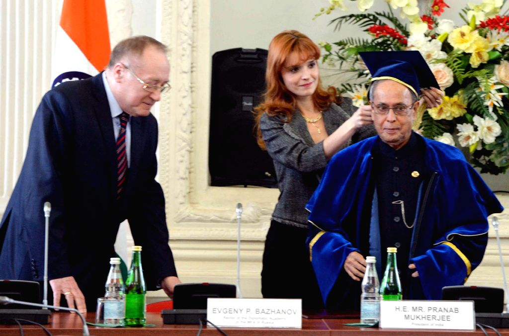 Moscow (Russia): President Mukherjee conferred Honorary ...