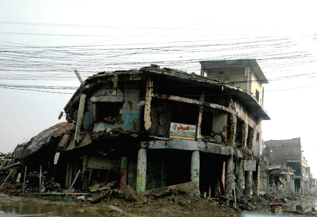 MOSUL (IRAQ), Dec. 5, 2018 Photo taken on Dec. 5, 2018 shows a destroyed building in the old city of Mosul, Iraq. About 17 months after liberation from the extremist Islamic State (IS) ...