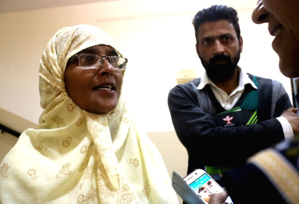 Mother of teenager Junaid Khan, who was stabbed to death in a train in Haryana's Faridabad district, during Sahitya Akademi Awards in New Delhi on Feb 12, 2018. - Junaid Khan