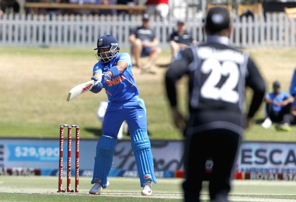 Mount Maunganui: Indian player Prithvi Shaw in action during the 3rd ODI Match between New Zealand and India  at the Bay Oval, Mount Maunganui in New Zealand on Feb 11, 2020.