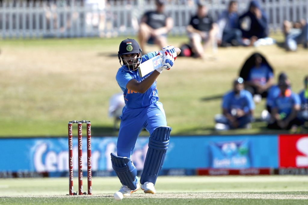 Mount Maunganui: Indian player Shreyas Iyer in action during the 3rd ODI Match New Zealand and India  at the Bay Oval, Mount Maunganui in New Zealand on Feb 11, 2020.