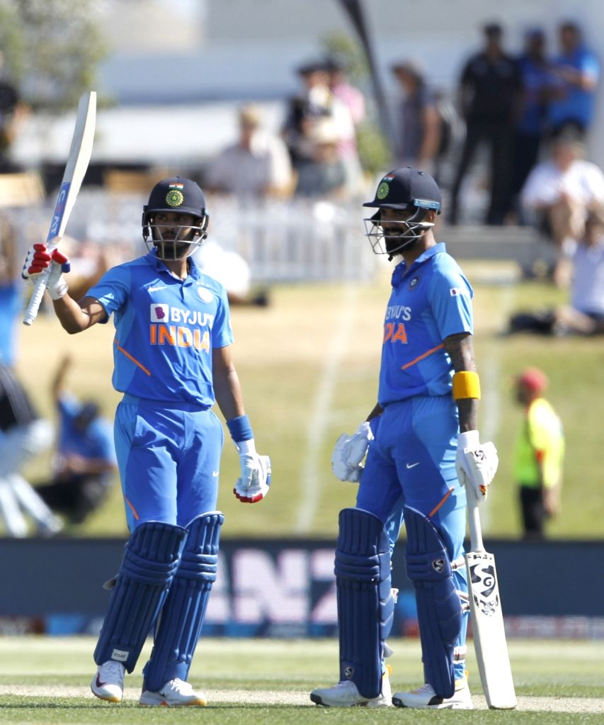Mount Maunganui: Indian players Shreyas Iyer and K. L. Rahul in action during the 3rd ODI Match New Zealand and India  at the Bay Oval, Mount Maunganui in New Zealand on Feb 11, 2020. - K. L. Rahul