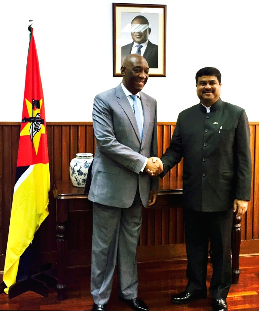 The Minister of State for Petroleum and Natural Gas (Independent Charge), Dharmendra Pradhan meets the Minister of Foreign Affairs, Mozambique, Oldemiro Julio Marques Baloi, in Mozambique ...