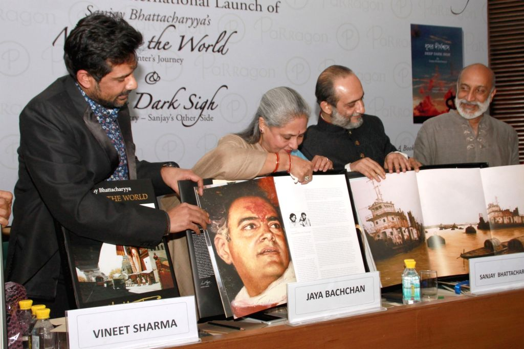 """MP and actress Jaya Bachchan at the launch of writer Sanjay Bhattacharyya's books """"Mirror to the wall'' and ''Deep Dark Sigh'' ,in New Delhi on March 11,2017. - Jaya Bachchan"""