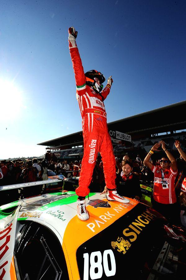 Mr. Gautam Hari Singhania rejoicing his position at the Ferrari Challenge Europe Championship 2015