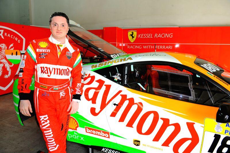 Mr. Gautam Hari Singhania with racing car