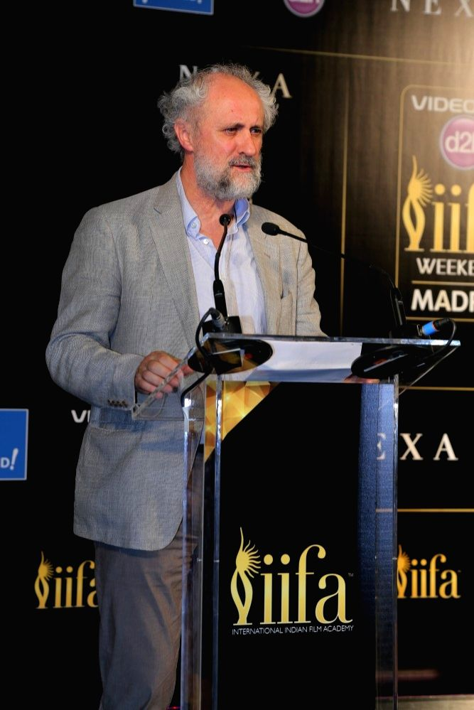 Mr. Luis Cueto during the IIFA 2016 opening press conference in Madrid on June 23, 2016.