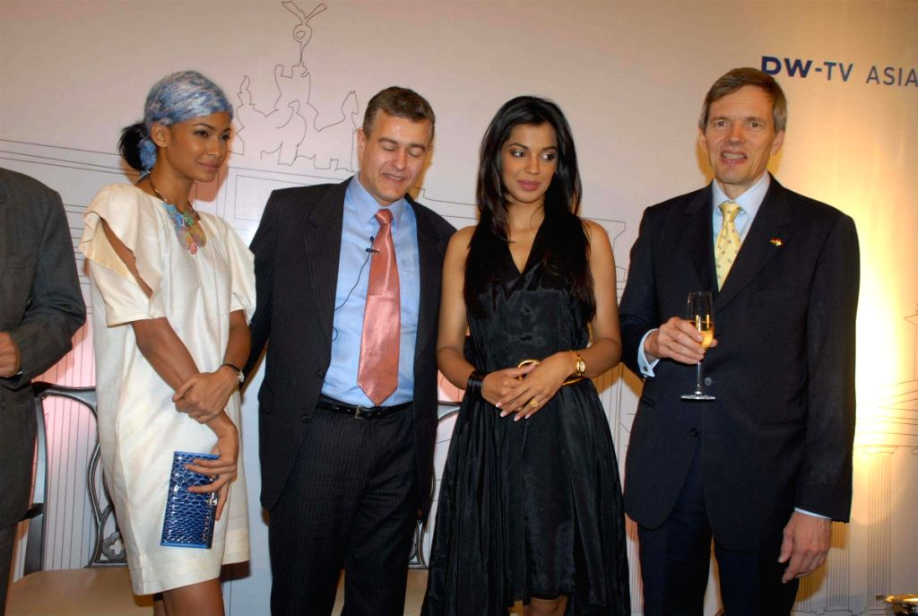 Mugdha Godse and Carol Gracias at  DW TV Press Meet.