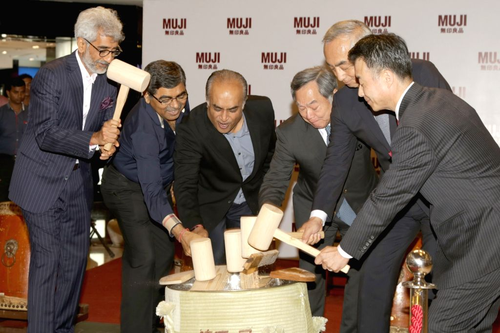 Muji - a Japanese retail company launches a store in New Delhi on May 5, 2017.