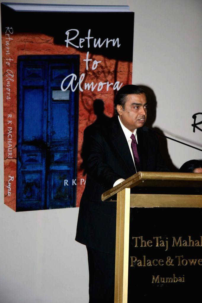 Mukesh Ambani at Pachauri's book Return to Almora launch at Taj. - Mukesh Ambani