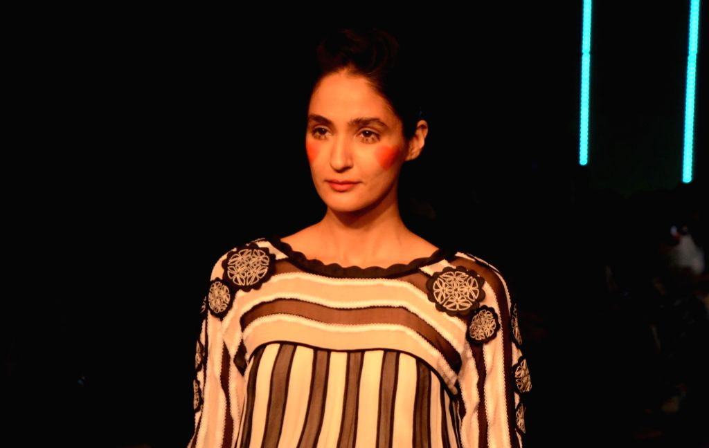 Mumbai: A model showcases fashion designer Suniana Khera's creation at the Gen Next edition during Lakme Fashion Week (LFW) Summer/Resort 2019 in Mumbai, on Jan 30, 2019.