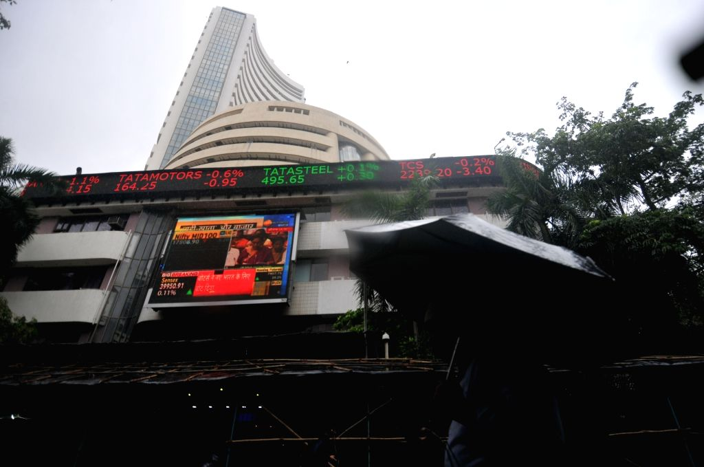 Mumbai: A view of the BSE building in Mumbai, on July 5, 2019. The Union Budget 2019-20 failed to cheer the equity market as the BSE Sensex slumped over 460 points minutes after Finance Minister Nirmala Sitharaman concluded her speech. At 1.28 p.m.,  - Nirmala Sitharaman