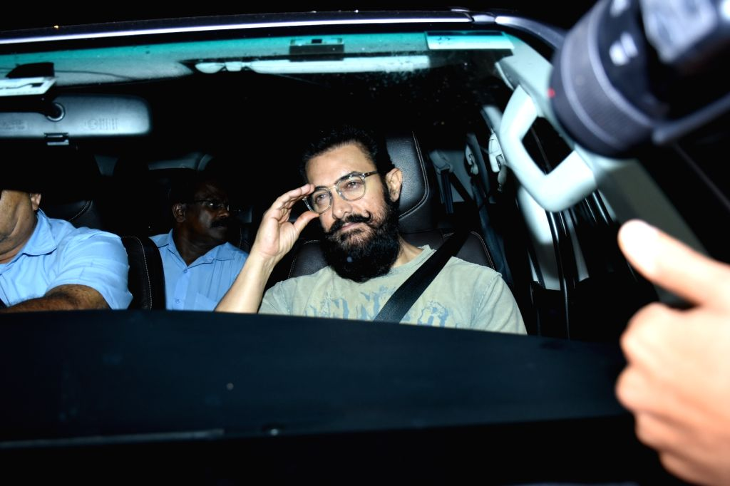 Mumbai: Actor Aamir Khan at the birthday bash of actor Ranbir Kapoor, in Mumbai on Sep 27, 2019. (Photo: IANS) - Aamir Khan and Ranbir Kapoor