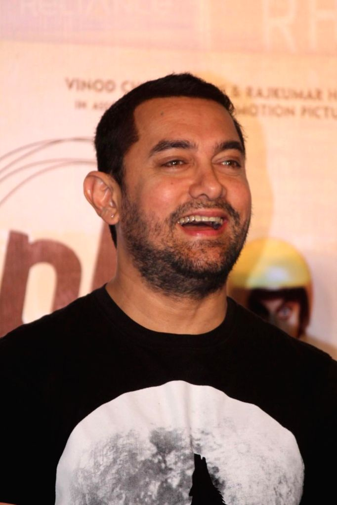 Actor Aamir Khan during the DVD launch of film PK in Mumbai, on March 11, 2015. - Aamir Khan