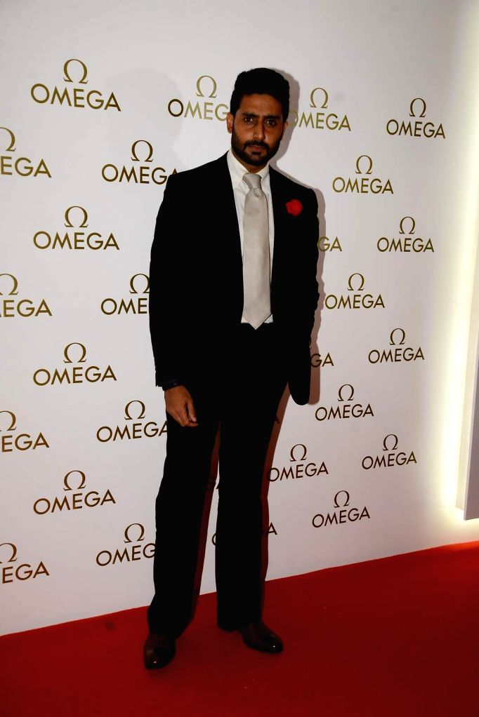 Actor Abhishek Bachchan during the party organised for the launch of the Omega Constellation Pluma collection in Mumbai, on June 18, 2015. - Abhishek Bachchan