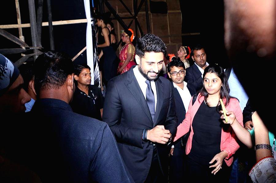 Actor Abhishek Bachhan during the inauguration of Kala Ghoda festival in Mumbai on Feb. 7, 2015. - Abhishek Bachhan