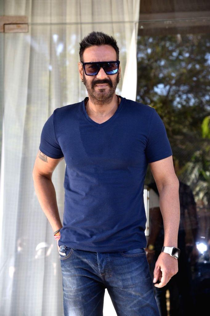 "Mumbai: Actor Ajay Devgn ahead of an interview regarding ""Total Dhamaal"" in Mumbai on Feb 8, 2019. (Photo: IANS) - Ajay Devgn"