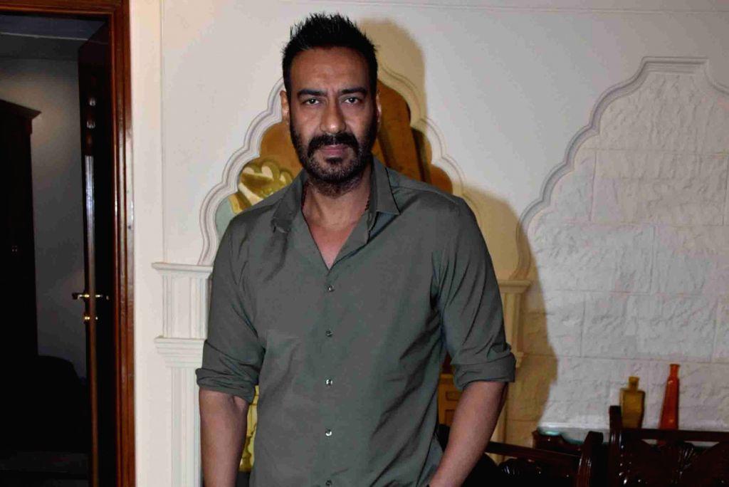 "Mumbai: Actor Ajay Devgn during a press conference regarding his upcoming film ""Total Dhamaal"" in Mumbai, on Feb 14, 2019. (Photo: IANS) - Ajay Devgn"