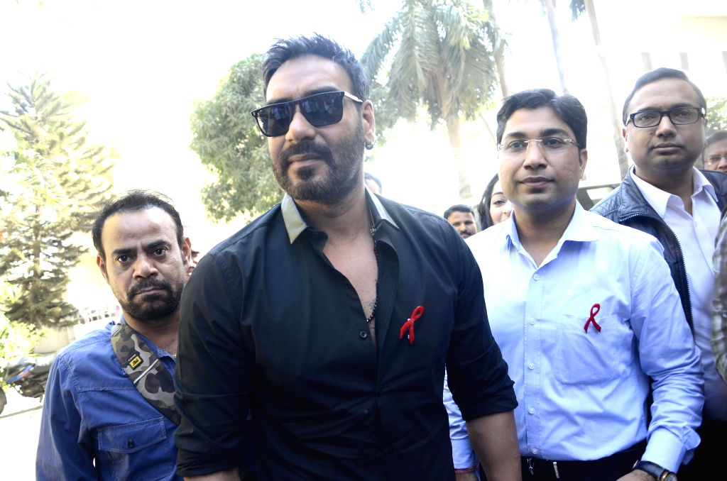 Actor Ajay Devgn during a programme organised by National AIDS Control Organisation on National Youth Day in Mumbai, on Jan 12, 2015.