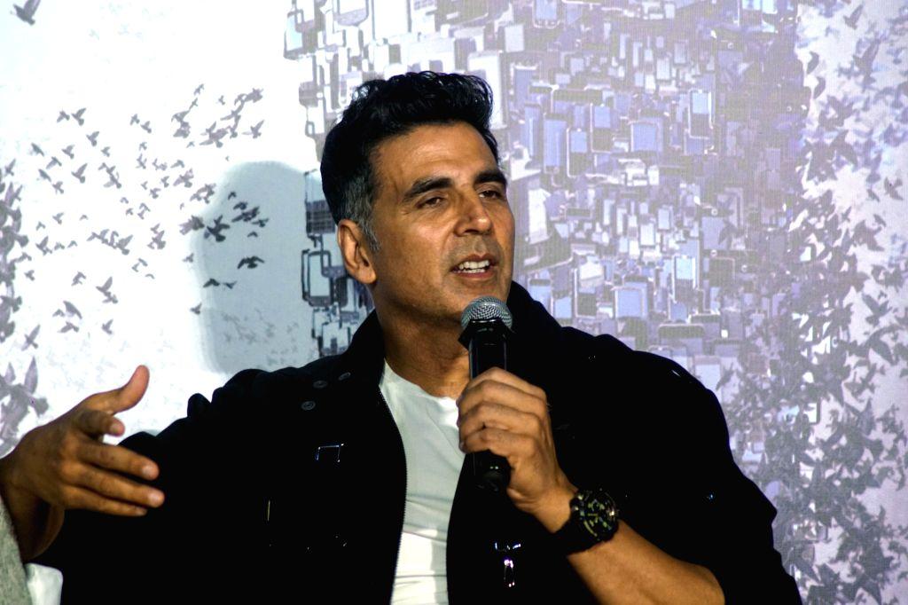 "Mumbai: Actor Akshay Kumar during a press conference to promote his upcoming film ""2.0"" in Mumbai on Nov 24, 2018. (Photo: IANS) - Akshay Kumar"