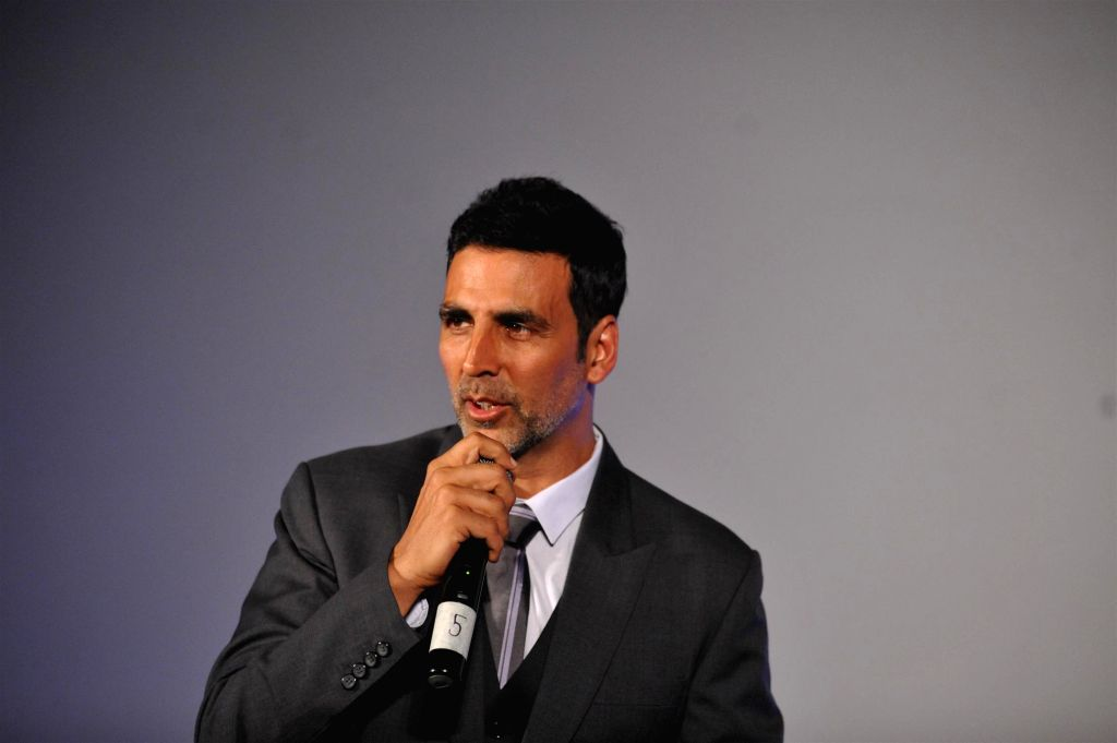 Actor Akshay Kumar during launch of Best Deal TV, India's first celebrity driven 24/7 Home Shopping Channel in Mumbai on March 5, 2015. - Akshay Kumar