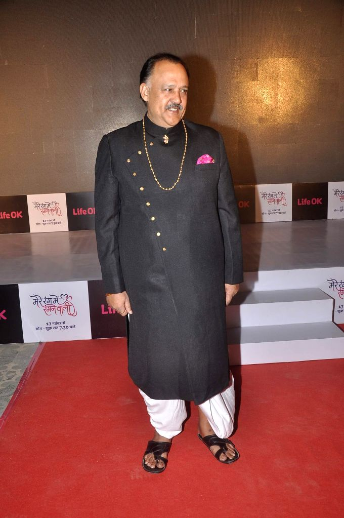 Actor Alok Nath during the launch of Life Ok`s television serial Mere Rang Mein Rangne Wali in Mumbai, on November 13, 2014. - Alok Nath