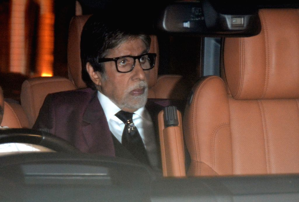 Mumbai: Actor Amitabh Bachchan at her granddaughter Aaradhya Bachchan's birthday party in Mumbai, on Nov 17, 2018. (Photo: IANS) - Amitabh Bachchan and Aaradhya Bachchan