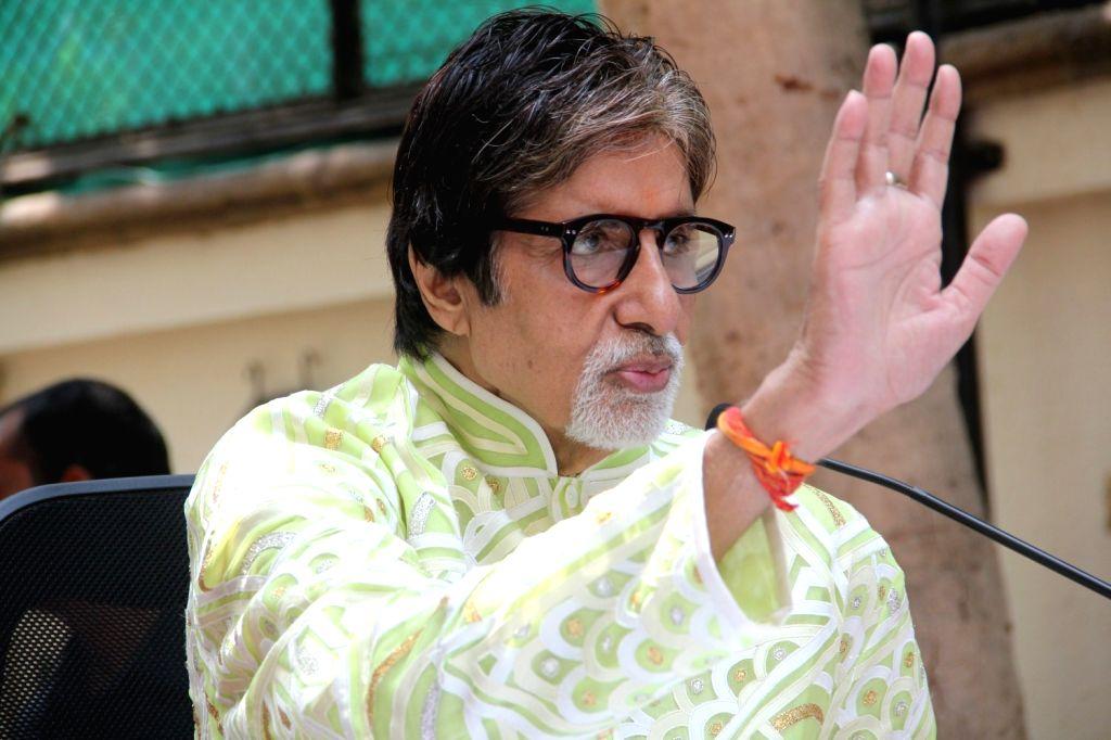 Mumbai: Actor Amitabh Bachchan during a press conference on his 73rd birthday in Mumbai on Oct. 11, 2015. (Photo: IANS) - Amitabh Bachchan