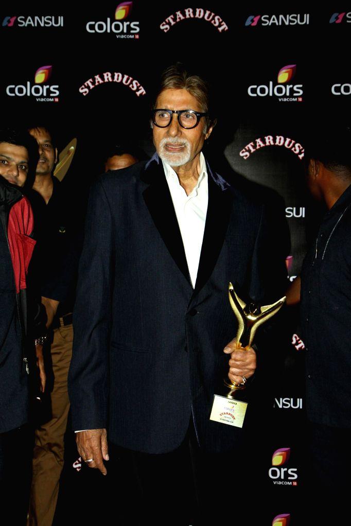 Actor Amitabh Bachchan during the Colors Stardust Awards 2014, in Mumbai on Sunday, Dec 14, 2014. - Amitabh Bachchan