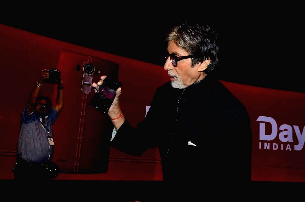 Actor Amitabh Bachchan During the launch LG smartphone in Mumbai on June 19, 2015. - Amitabh Bachchan During