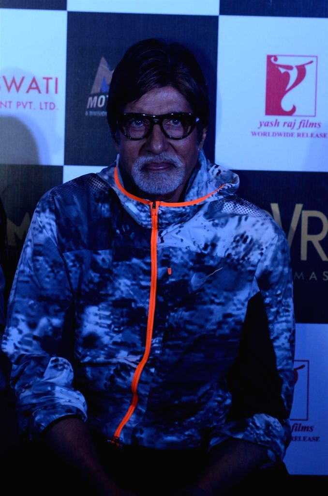 Actor Amitabh Bachchan during the trailer launch of film Piku in Mumbai on March 25, 2015. - Amitabh Bachchan