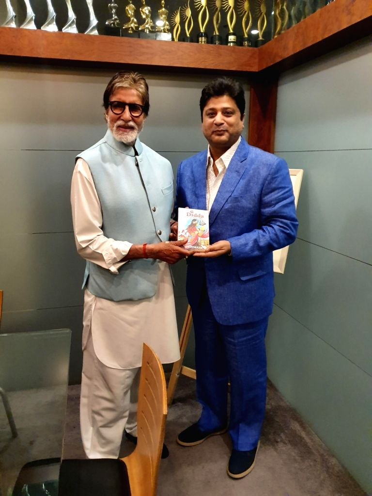"Mumbai: Actor Amitabh Bachchan unveils ""Didda - The Warrior Queen of Kashmir"" by Ashish Kaul in Mumbai on Jan 12, 2020. (Photo: IANS) - Amitabh Bachchan"
