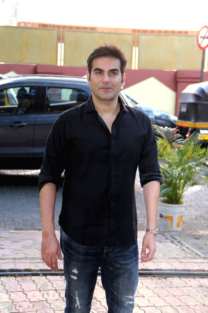 Actor and filmmaker Arbaaz Khan during the launch of author Dr P V Vaidyanathan`s book Why not use some common sense in Mumbai, on April 4, 2015. - Arbaaz Khan