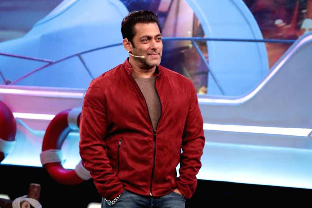 Mumbai: Actor and reality television show Big Boss Season 12 host Salman Khan on the sets of the show's 'Weekend Ka Vaar' episode in Mumbai on Nov 9, 2018. (Photo: IANS) - Salman Khan