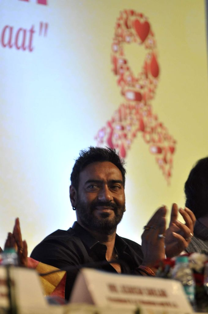 Actor and SAARC Goodwill Ambassador Ajay Devgn during celebration of National Youth Day organized by National AIDS Control Organisation (NACO) with SAARC and MDACS in Mumbai, on Jan. 12, ... - Ajay Devgn
